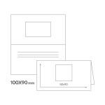 картинка Стандарт двойной визитки 100 х 90 мм