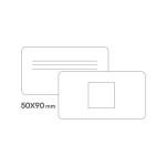 картинка Стандарт визитки 50 х 90 мм скругленные углы