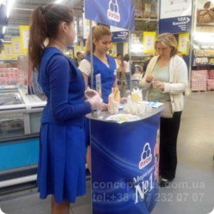 проведение дегустации мороженного в магазине 02